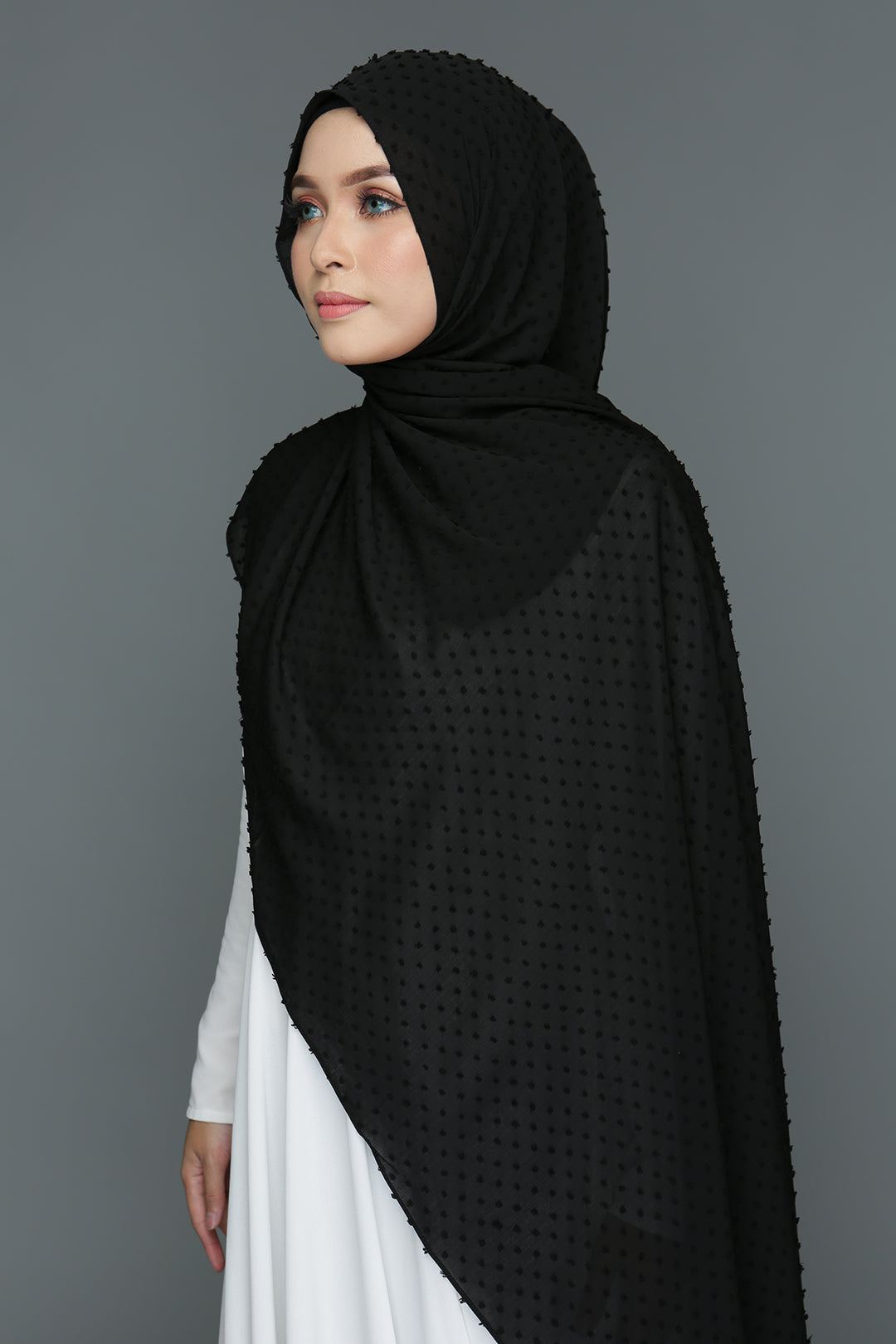 Textured shawl (Black)