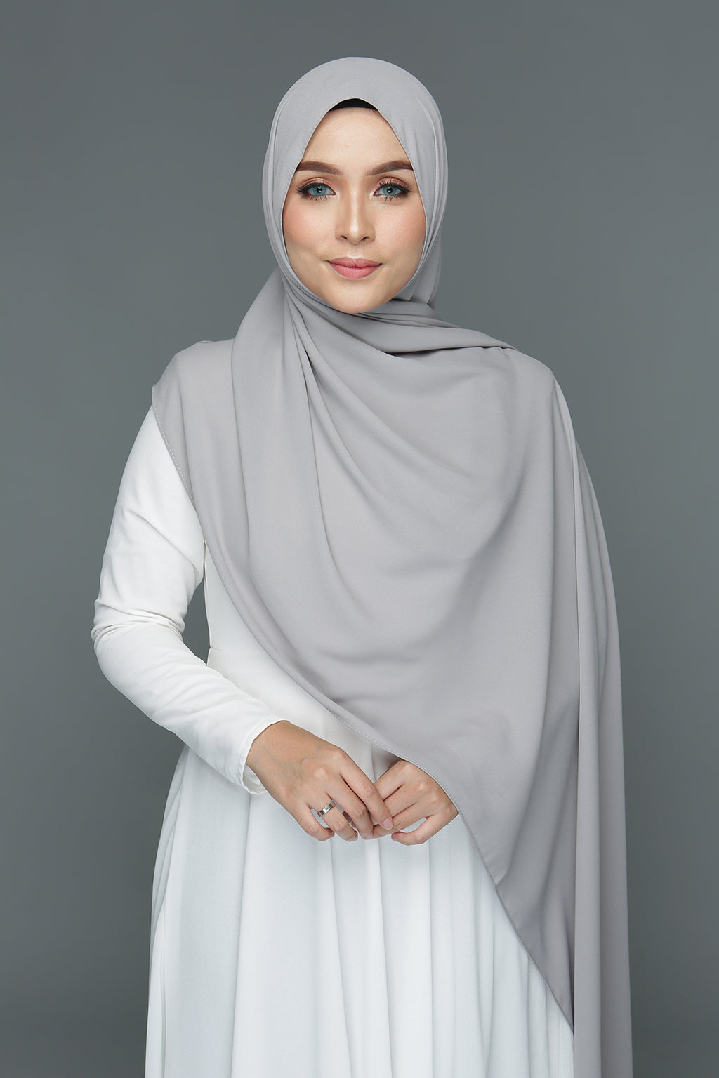 NN Basic Shawl (Neutral Grey)