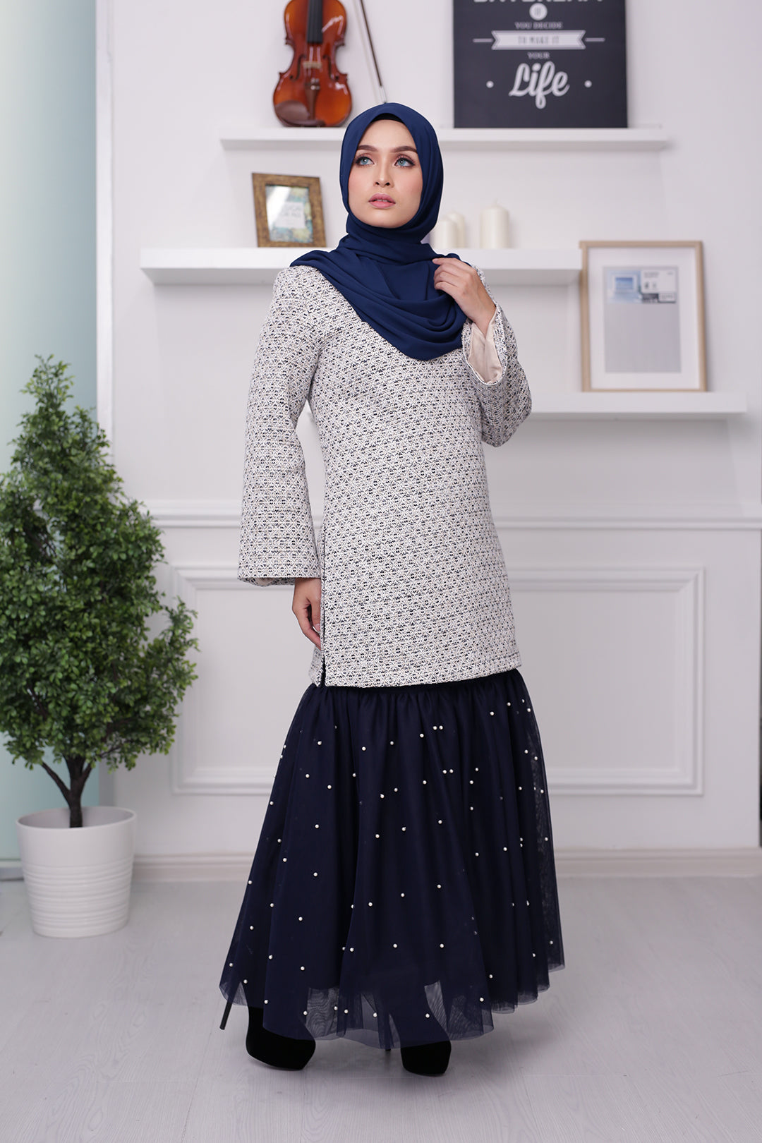 Tweed Set (Navy)