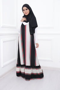Stripe Spaghetti Dress (Black)