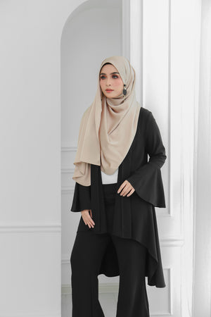 Short Flare Sleeve Cardi (Black)