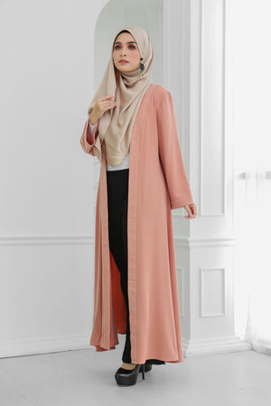 Long Wide Sleeves Cardi (Peach)