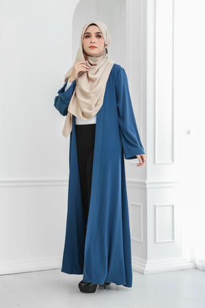 Long Wide Sleeves Cardi (Blue)