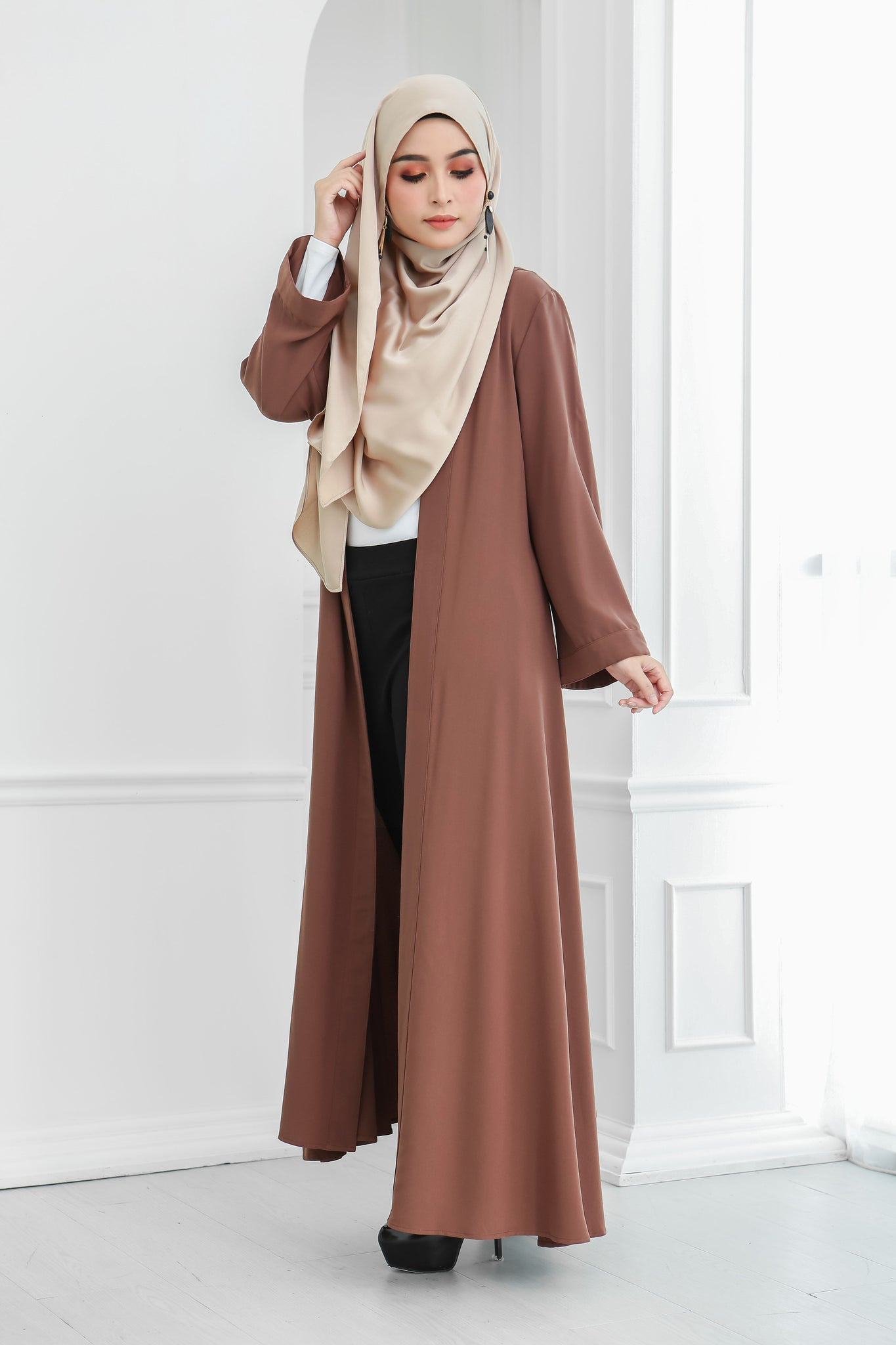 Long Wide Sleeves Cardi (Mocha)