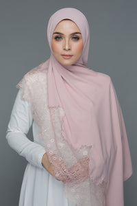 Powdered Chiffon Lace Blush (Length)
