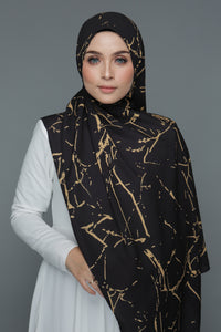 Marble Shawl (Black/Gold)