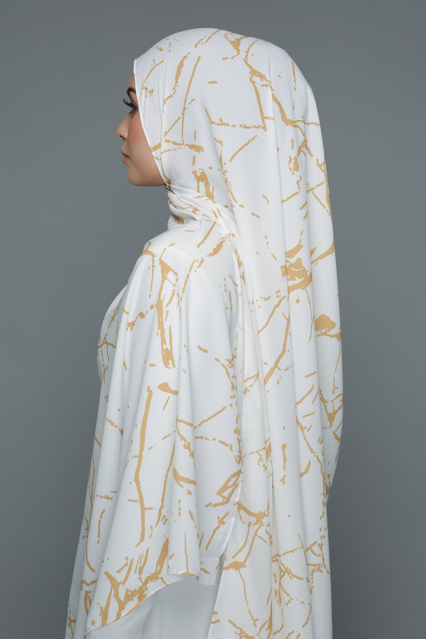 Marble Gold (White)