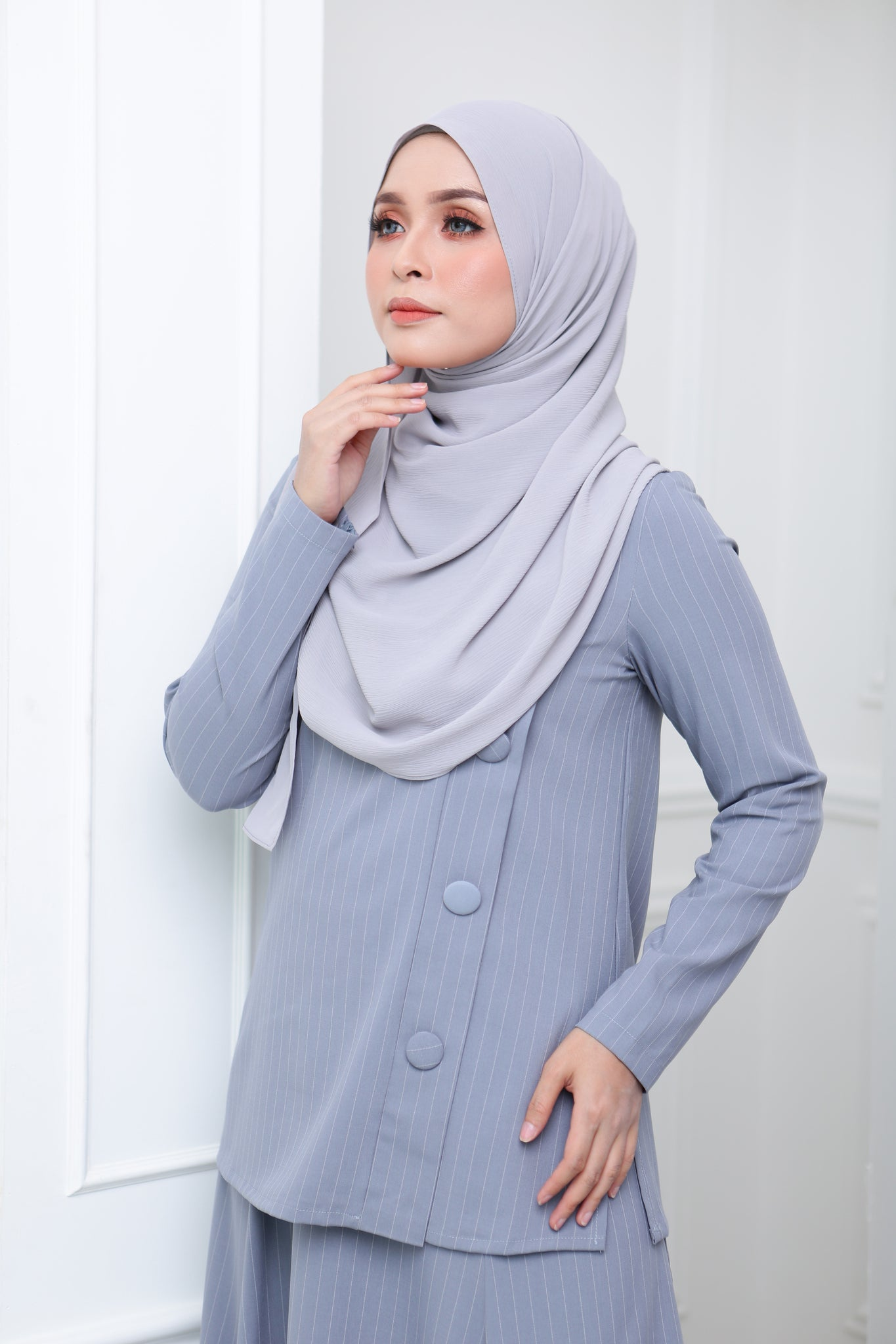 Flare Stripe Co Ord (Grey)