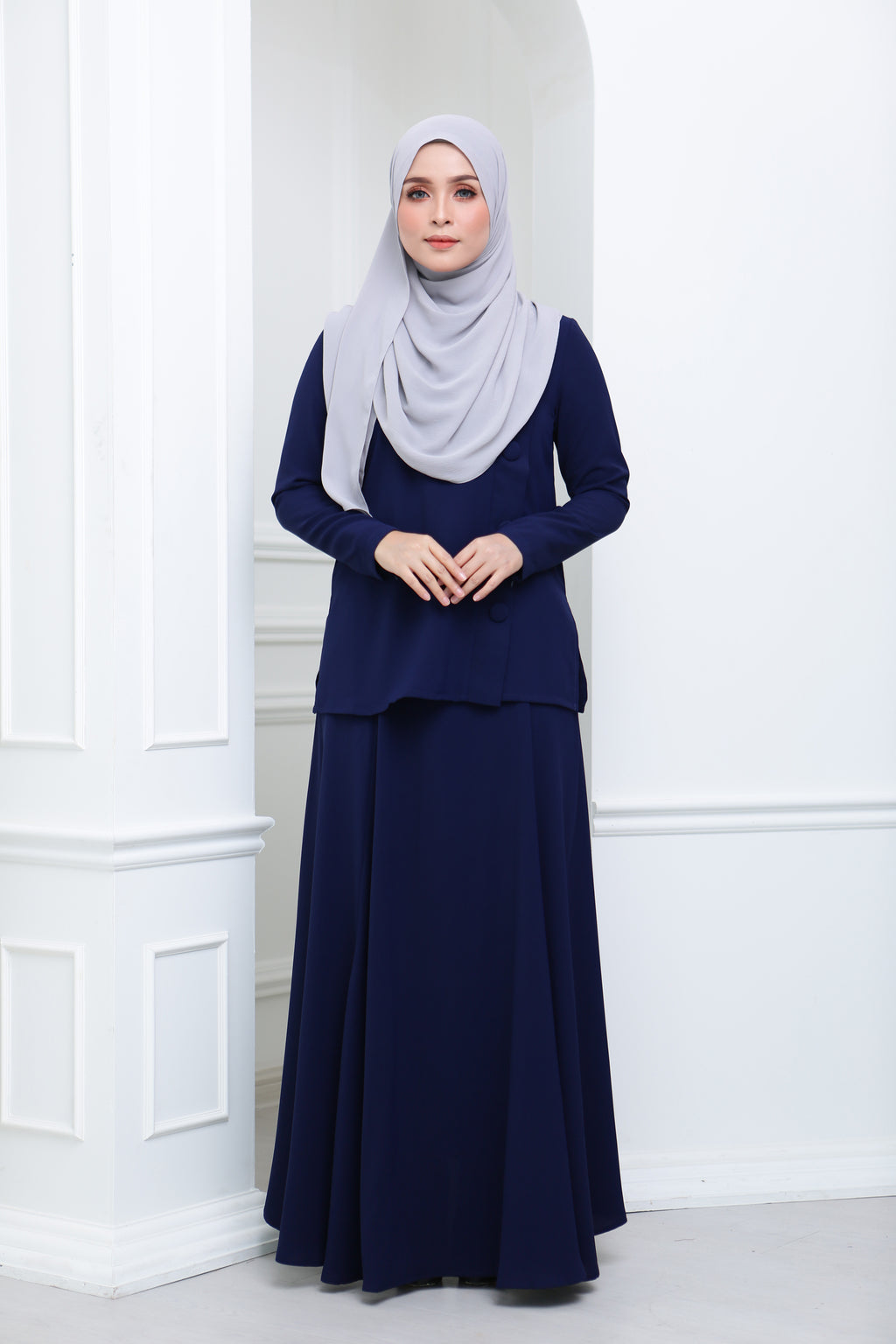 Flare Crepe Co Ord (Navy)