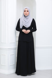 Flare Crepe Co Ord (Black)