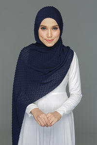 Textured shawl (Blue Black)