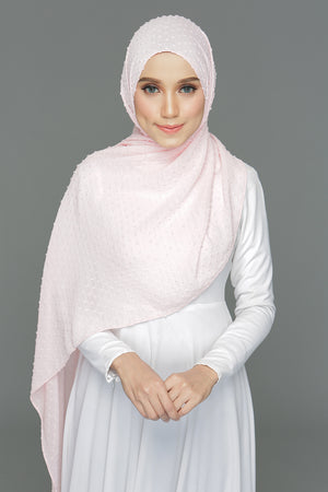 Textured shawl (Coral Blush)