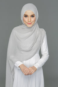 Textured shawl (Neutral Grey)
