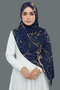Marble Gold (Navy)