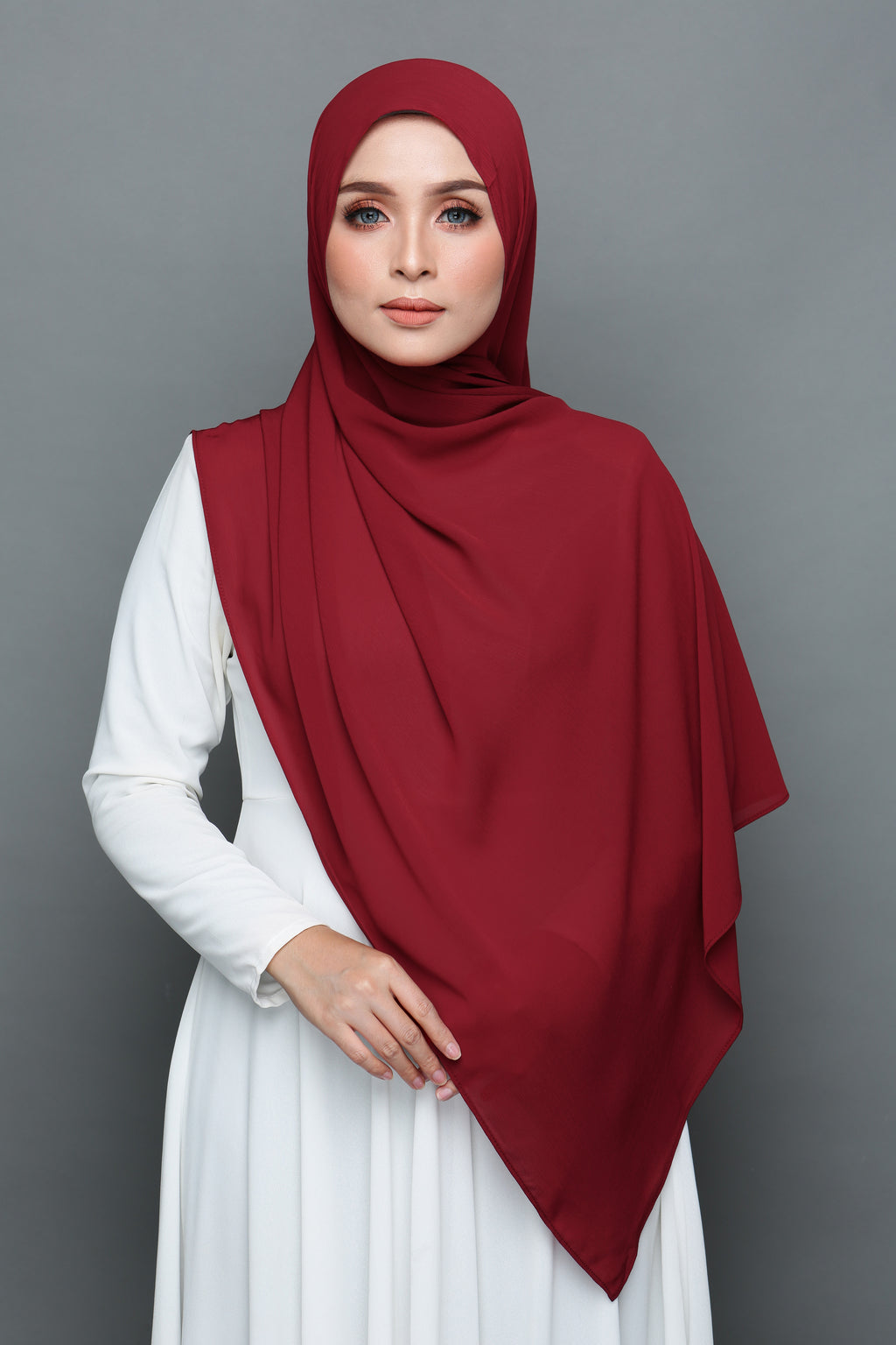 Crumple Chiffon (Red Velvet)