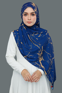 Marble Gold (Royal Blue)