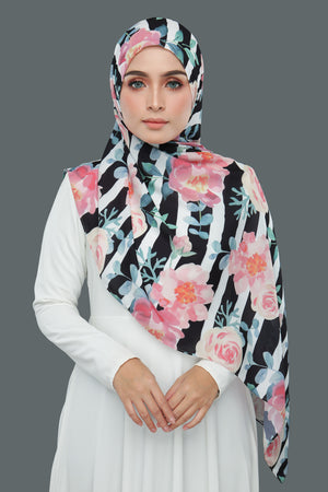 Stripe Floral (Black)