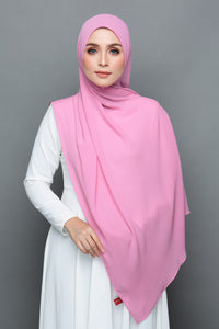 Crumple Chiffon (True Pink)