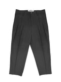 Relaxed Cropped Trouser Black