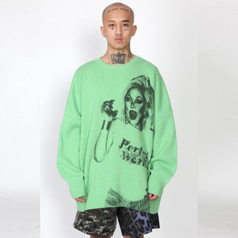 Bambi Oversized Sweater Green