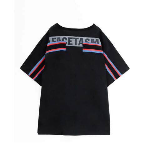 Facetasm Ribbed Oversize T-shirt Black
