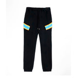 Facetasm Ribbed Pants Black/Blue