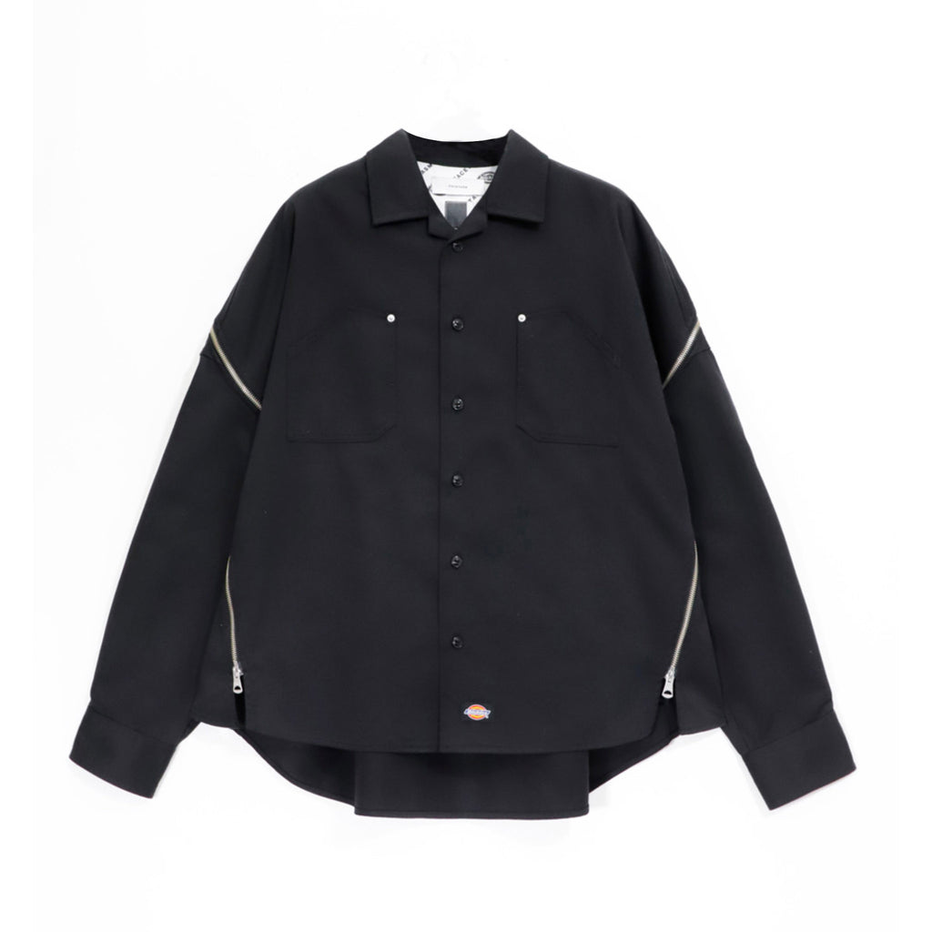 Multi Zipped Shirt Black