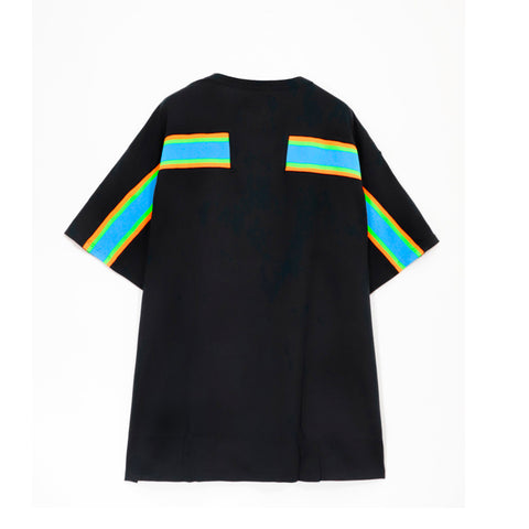 Ribbed Oversize T-shirt Black/Blue