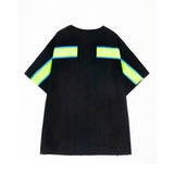 Ribbed Oversize T-shirt Black/Green