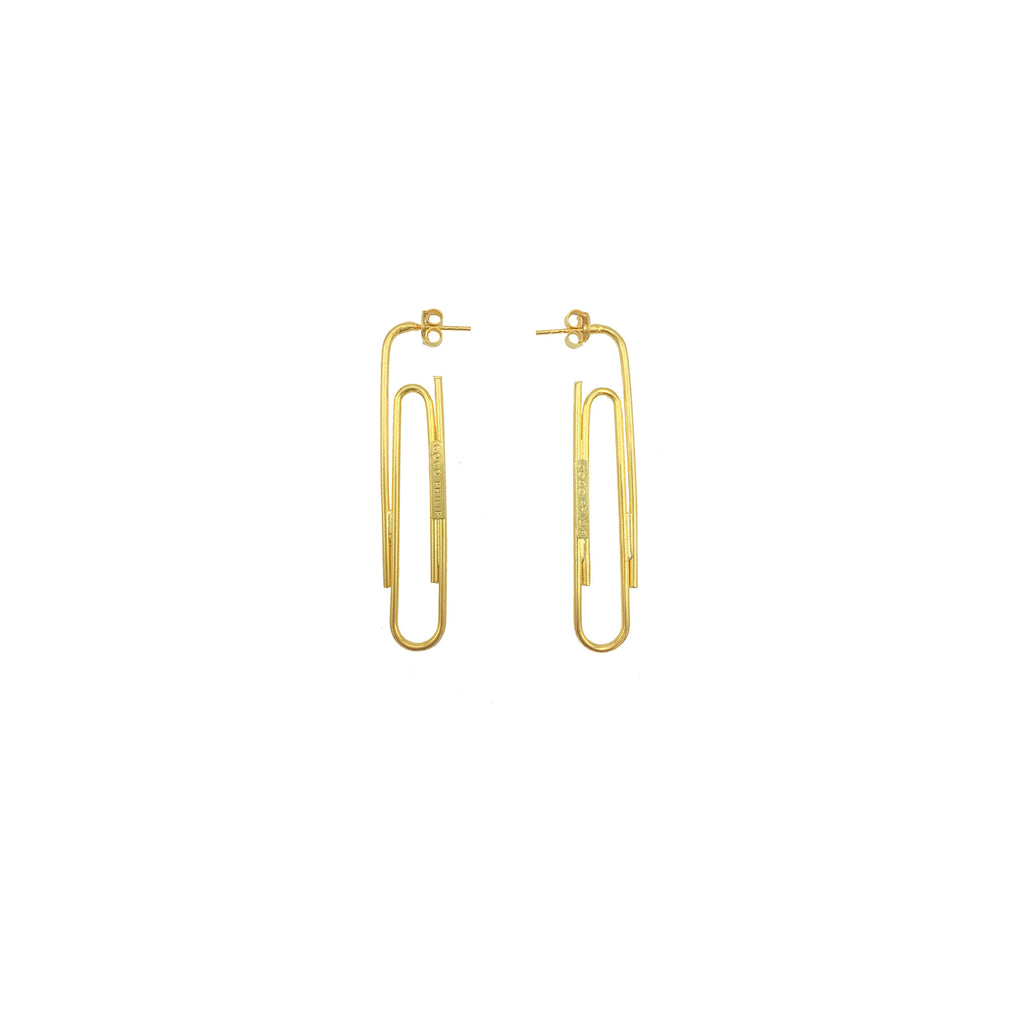 Paper Clip Earring Gold