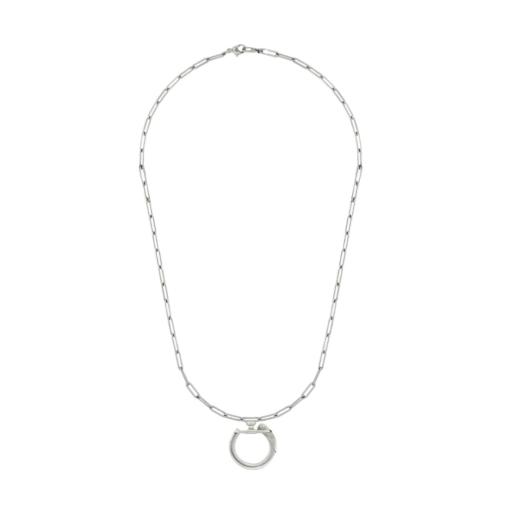 Karabiner Necklace Silver