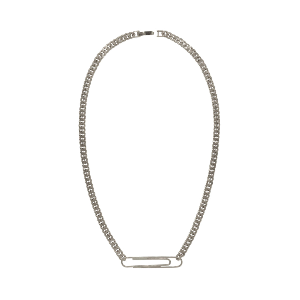 Paper Clip Necklace Silver