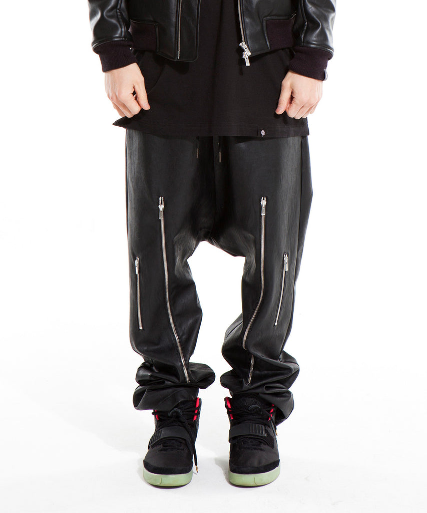 Zipper Drop Crotch Pants