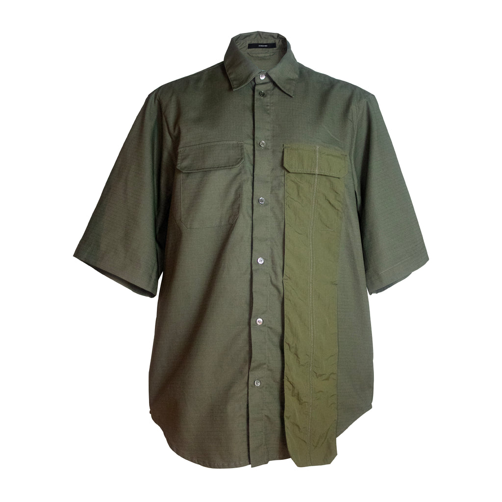 Military Short Sleeve Shirt with Pocket