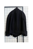 Black Raw Arm Hole Belted Jacket