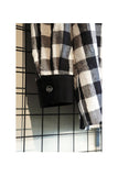 Black And White Big Gingham Check Shirt