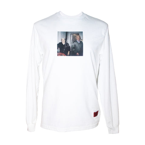 Grand Parents LS Tee White