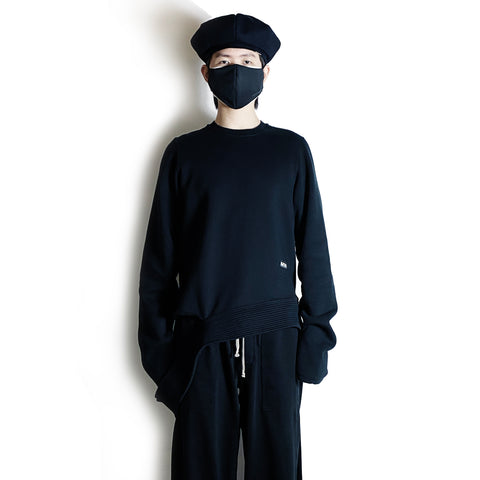 Long Creatch Sweatshirt Black