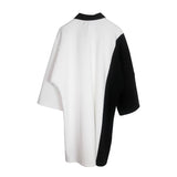 Color Combined BW Oversized Polo
