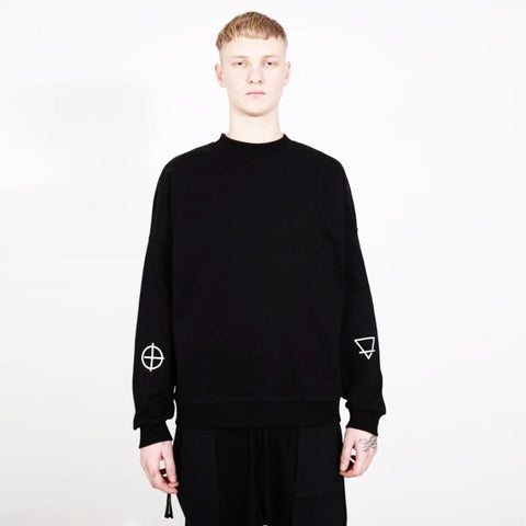 THE NIGHT IS YOUR FRIEND SWEATER BLACK