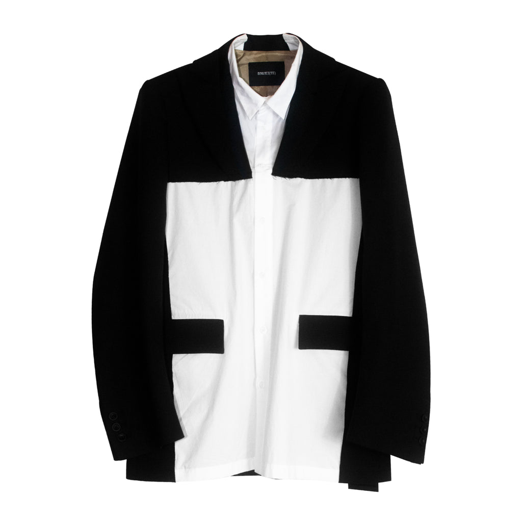 Shirt Blazer Black & White