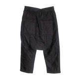 Drawstring Cropped Woven Padded Pants