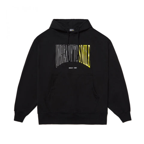 ZNY x Smiley Unready To Smile Oversize Hoodie Black