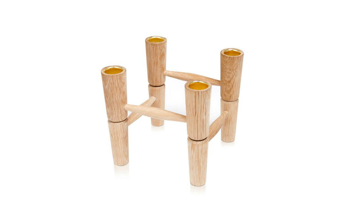 LUCIE KAAS Candle Holder - Oak