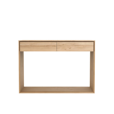 Nordic Oak Console - 2 Drawers
