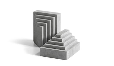 Bentu 'MEN' Concrete Bookends