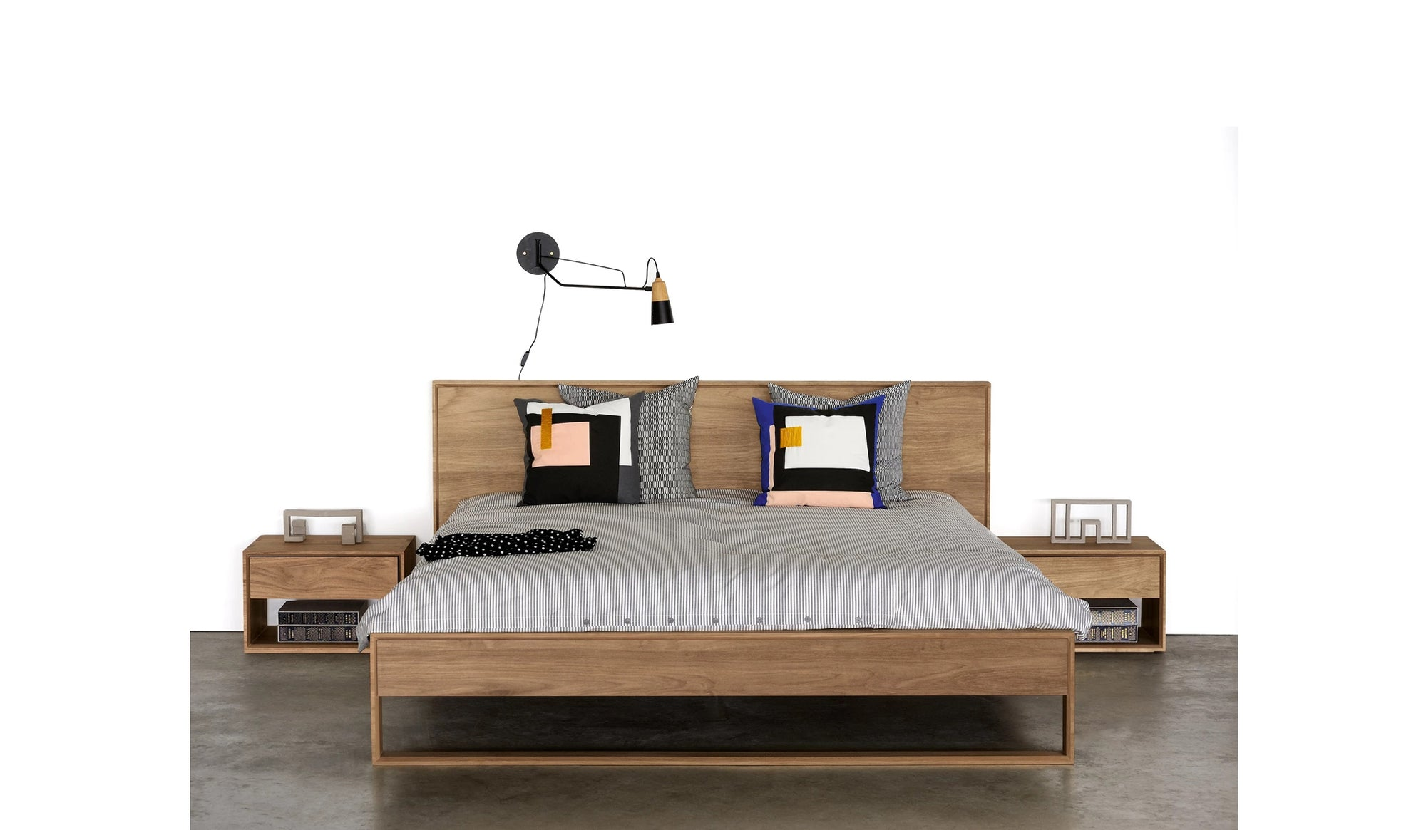 ethnicraft oak nordic ii bed with slats au queen size mattress size 153 203