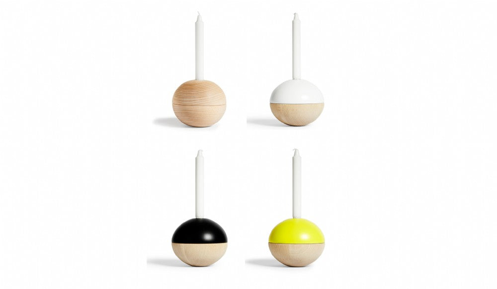 Tippetop Candleholder | Round Nature/Yellow