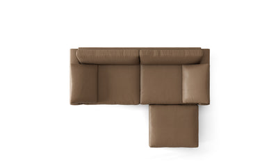 Nova Leather Sofa | 3 Seater w/ Ottoman