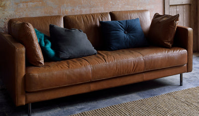 Ethnicraft Old Saddle Leather Sofa